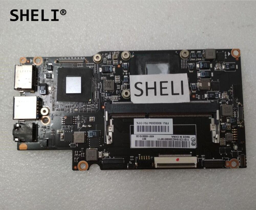 SHELI Pour Lenovo Yoga 13 Carte Mère avec I7-3537U processeur 90002034