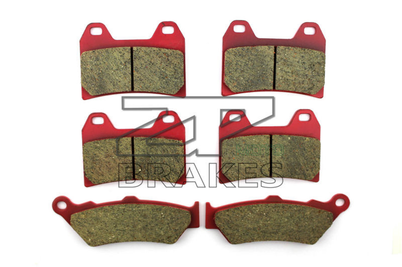 Motorcycle Brake Pads For MOTO GUZZI 1100 California EV (From KD115427) 1997-2002 F+R New Ceramic Composite High Quality f 16 dc 80 motorcycle brake clutch levers for moto guzzi breva 1100 norge 1200 gt8v 1200 sport caponord etv1000