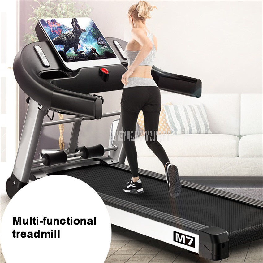 M7 10.1 Inch Large Screen Household Electric Foldable Mini Treadmill With Belt Multifunctional Sit-Up Mute Fitness Equipment