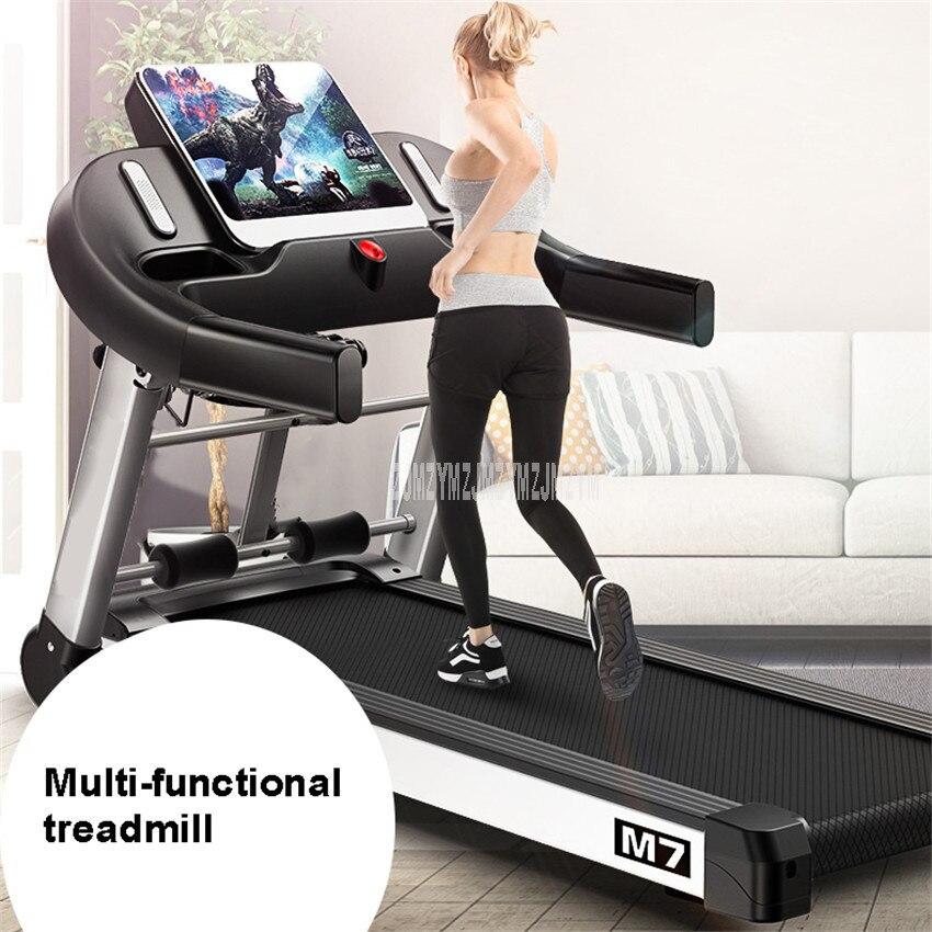 M7 10.1 pouces grand écran ménage électrique pliable Mini tapis roulant avec ceinture multifonctionnel situp muet équipement de Fitness