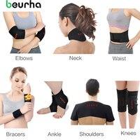 Beurha turmalina autocalentamiento cinturón ayuda de la cintura rodillera cuello hombro pad tobillo ayuda del codo 7 en 1 Unidades terapia magnética