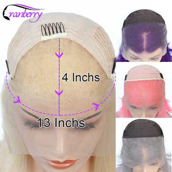 Cranberry Remy Malaysian Hair 13X4 Lace Front Human Hair Wigs Bob 613 Wig Purple Wig Grey Wig Pink Wig Straight Lace Front Wig