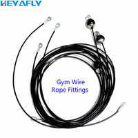 Attrezzature per il fitness accessori wirerope filo di acciaio corda assemblee, 5 millimetri/6 millimetri di filo e la testa set di accessori. Palestra cavo personalizza