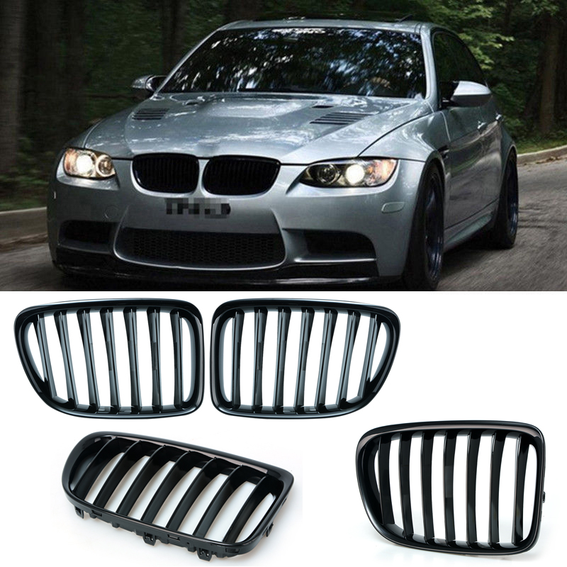 1 Pair Upgrade Euro Sport Gloss Black Front Slat Grilles SUV Kindly Grill For BMW E84
