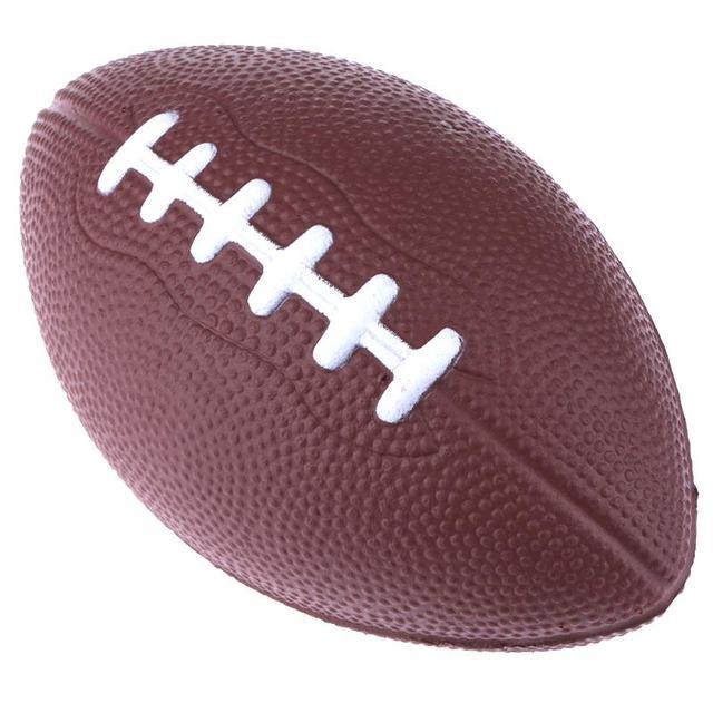 Mini Standard Rugby Ball Soft Pu Foam Brown Anti Stress Soccer Squeeze England