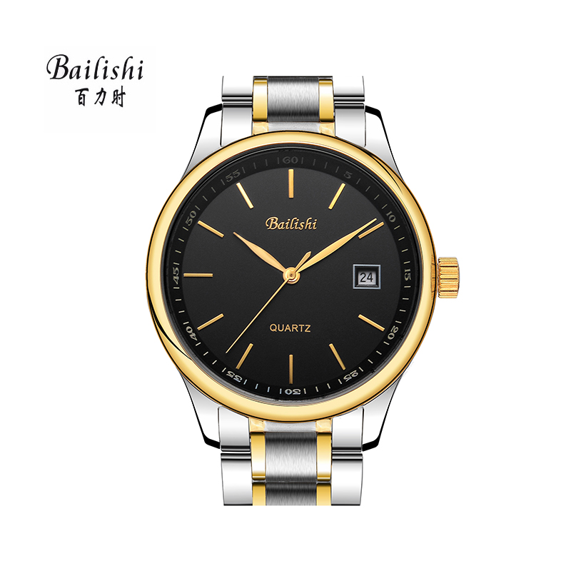 BAILISHI Brand Feminino Date Day Clock Male Stainless Steel Watch Ladies Fashion Casual Watch Quartz Wrist Men Watches bailishi casual quartz watch diamonds hour stainless steel wrist watch male clock brand luxury men wristwatch 30m waterproof