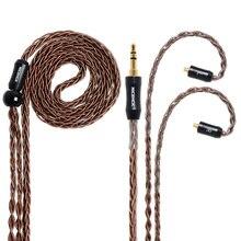 NICEHCK 8 çekirdekli yüksek saflıkta bakır kablo MMCX/2Pin 3.5/2.5/4.4mm fiş TFZ ZS10 ZSX ZSN C10 C12 C16 V90 BA5 NX7 Pro/DB3/M6/F3