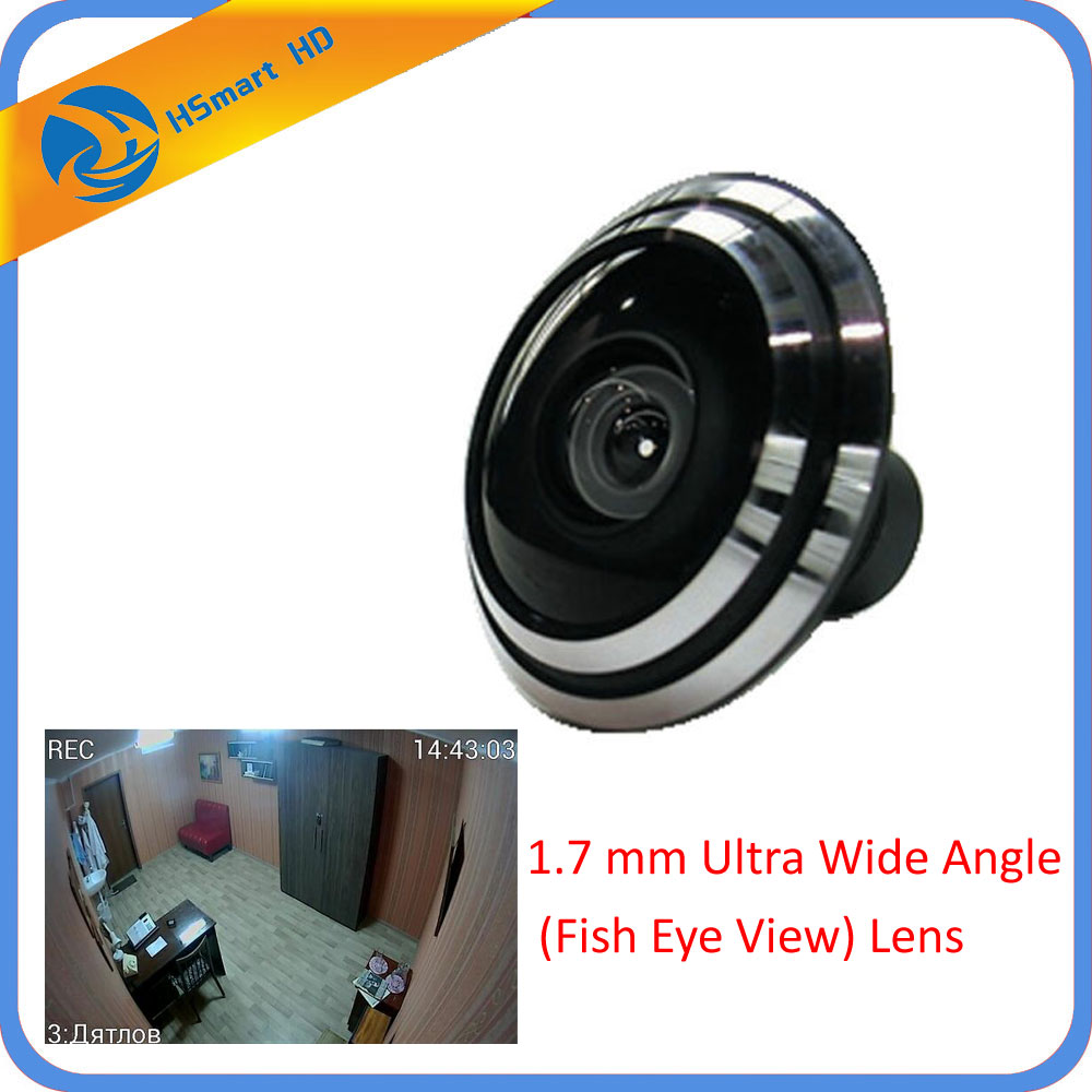 New 1/3inch Mini Lens 1.7 mm Ultra Wide Angle (Fish Eye View)For CCTV IR HD AHD TVI 1080P Wireless Network Night Vision Camera