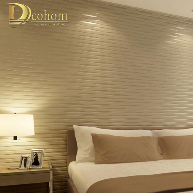 Online Shop 3D Stereoscopic Beige Striped Wall paper Designs ...