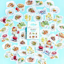 46pcs/pack Yummy Food Series Adhesive Stickers DIY Decoration Scrapbooking Bookmark For Notebook