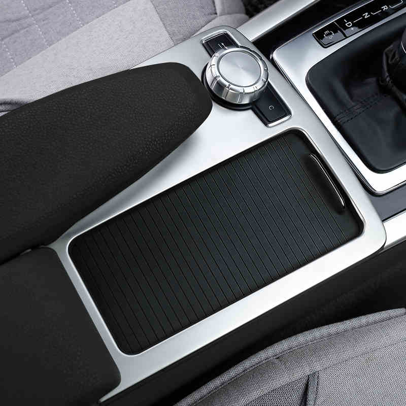 Car Inner Center Console Gear Shift Box Sequin Water Cup Holder Cover Trim strip sticker for Mercedes Benz C class W204 180 200
