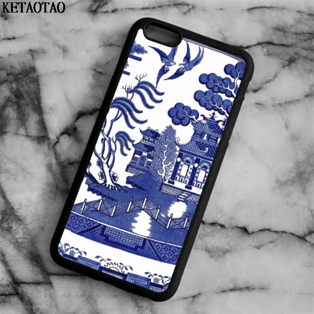 Ketaotao Vintage Blue Willow China Pattern Phone Cases For Iphone 4s 5c 5s 6 6s 7 8 X Samsung Case Soft Tpu Rubber Silicone