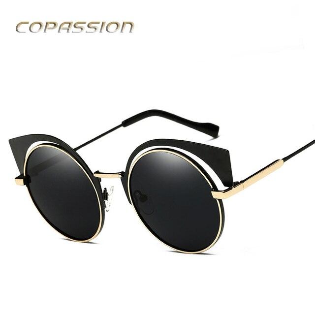 70b9d39049 polarized sunglasses women brand designer Retro Metal Cat Eye sunglass  Adult Polaroid round glasses uv400 oculos de sol feminino