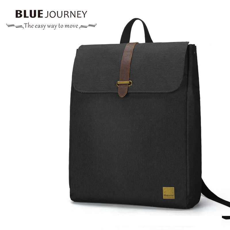 New Canvas College  Bags Student School Backpack Male Bags Casual Rucksacks Laptop Backpacks Man Mochila Black Computer Backpack