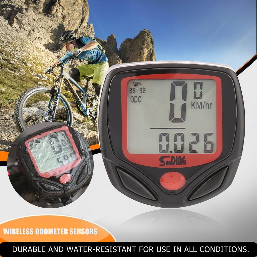 SUNDING SD Multifunctional Bicycle Computer Wired Odometer Stopwatch Waterproof Mini Digital LCD Speedometer Tracker Wholesale