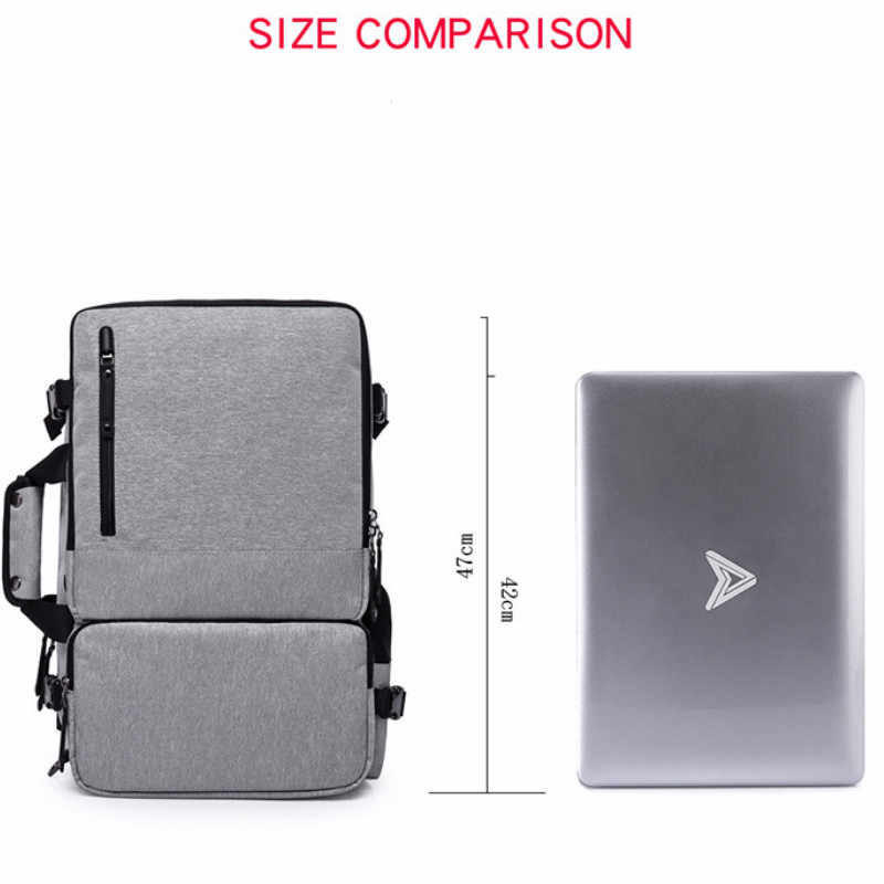 2018 New men's anti-theft backpack multi-function three-purpose computer bag college student backpack