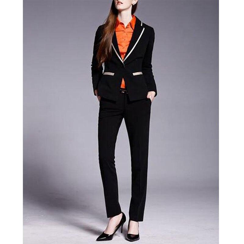 custom made ladies black trouser suit designer womens formal