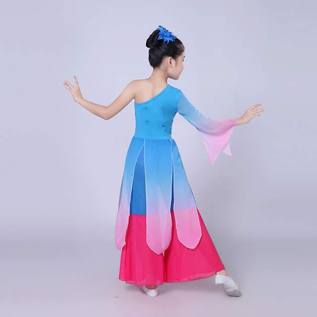 dc6958842 Online Shop Chinese Folk Dance Clothing Girls Fan Dance Costume ...