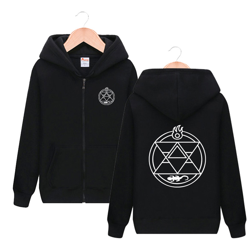 Fullmetal Alchemist Edward Elric Hooded Hoodie Cosplay Costume Men Women Spring Autumn Fashion Casual Sweatshirt Streetwear