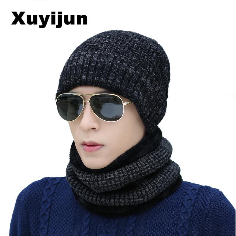 XUYIJUN Balaclava Knitted Scarf Cap Winter Warm Skull   Beanie   Fleece Hat for Men and Women   skullies     beanies   hats