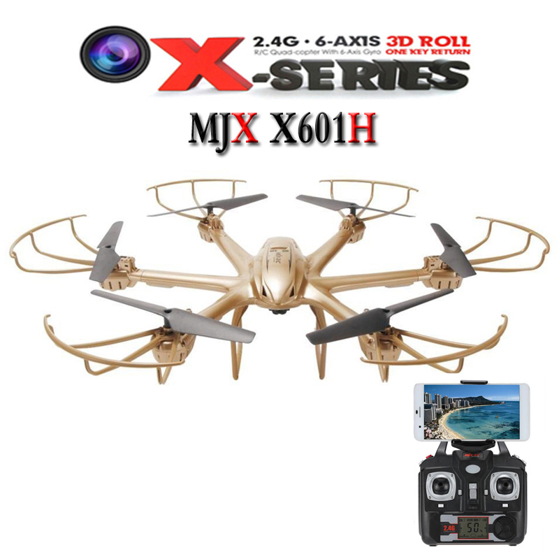 Original MJX X601H X-Series 2.4Ghz 6-axis Gyro 3D Roll Quadcopter Helicopter Drone Wireless HD Video Real-time WiFi FPV Camera yizhan i8h 4axis professiona rc drone wifi fpv hd camera video remote control toys quadcopter helicopter aircraft plane toy