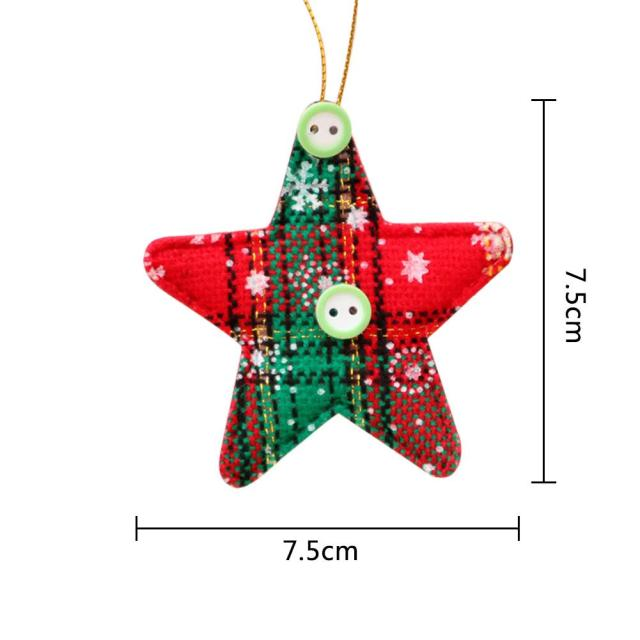 2pcs christmas decorations santa claus shape ornament christmas tree decorations christmas bells decorations for home