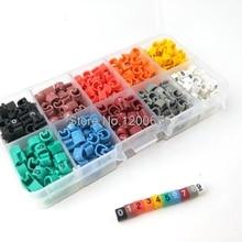 MC-1, 500 шт., ПВХ кабель, маркеры, буквенный номер 0-9, кодовый шнур, кабельный органайзер, метка, этикетка, маркер, разноцветный, всего