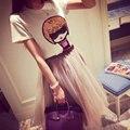 2015 New verão na moda roupa da menina impressão mulheres Casual t-shirt de boa qualidade fino de algodão lantejoulas T camisa Tops bonitos