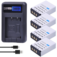 PowerTrust 4Pc NP 85 NP85 NP 85 Rechargeable Batteries and LCD USB Charger for Fujifilm S1 SL1000 SL240 SL245 SL260 SL280 SL300