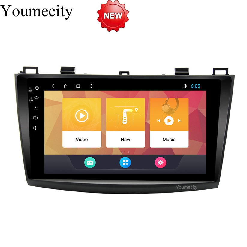 Android 8.1 Car DVD for Mazda 3 2010 2011 2012 2013 GPS radio video Multimedia player Capacitive IPS Screen wifi USB bluetooth цена