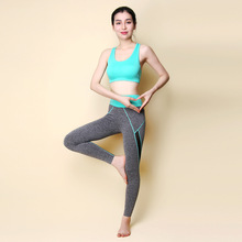 2016 women yoga suit women set sport fitness pants and bra summer style workout sets for running hiking sporty 002