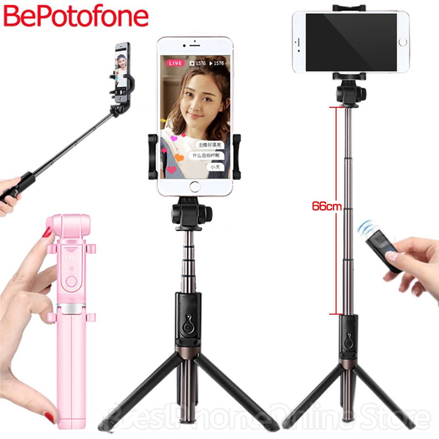 NEW Selfie Stick Tripod Stand 3 in 1 Extendable Monopod Bluetooth  3.0 Remote Phone Mount for iPhone X 8 Android SmartPhone secadora nova 6130