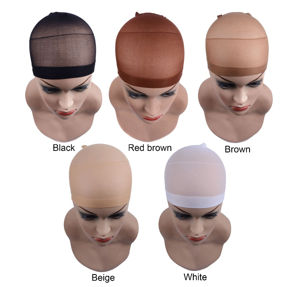 2pcs/bag Hair Mesh Wig Cap Hair Nets Wig Liner Hairnets Snood Glueless Dome Wig Cap  Stretchable Elastic Hair Net