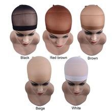 Wig-Cap Hair-Nets Snood Elastic Dome Stretchable Glueless 3bag 6pcs/