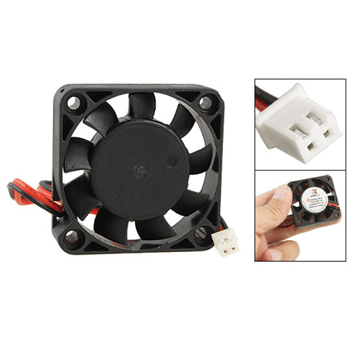 YOC Hot New Black Plastic 40mm X 40mm X 10mm 4010 9 Blade Brushless DC 12V Cooling Fan