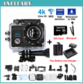"Extra Battery+Charger+Monopod+10 Class 32G Card Sport camera 30M tanche 2.0 "" 4k Action Cam 4K camra 16M WIFI Camra Deportiva"
