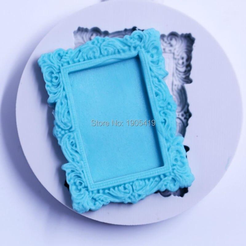 Vintage marco del espejo forma Fondant Cake herramientas de moldeo ...