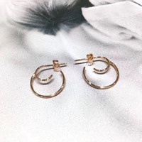 ANI 18k Rose Gold Women Circle Earrings Fashion Hip Hop Trendy Young Lady Party Big Round