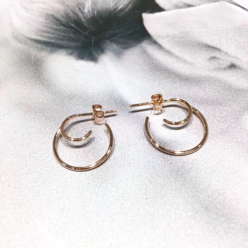 ANI 18k Rose Gold Women Circle Earrings Fashion Hip-hop Trendy Young Lady Party Big Round Hoop Earrings Fine Jewelry Gift bamboo big hoop earrings