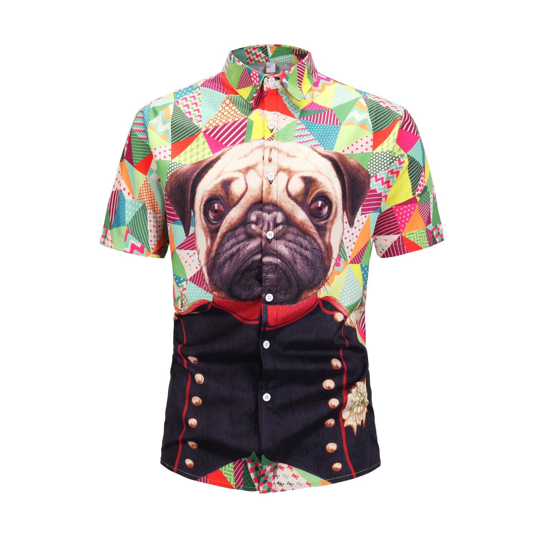 2019 Casual Printed Short Sleeve Shirt Men StreetWear 2019 Hawaii Beach men Fashion Turn Down collar Vacation Tops Harujuku Mens in Casual Shirts from Men 39 s Clothing