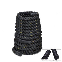 9M Dacron Material Heavy Black 2 Dia.Undulation Battling Rope Physical Body Strength Training Sport Fitness Exercise Workout