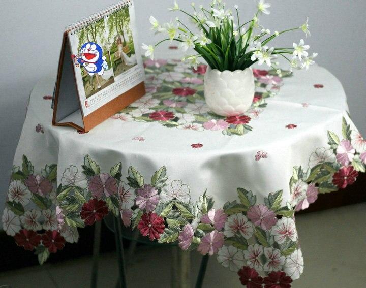 Глазури Мода Скатерть столбец холодильник крышка журнальный столик вышивка вырез ручной работы ТВ крышка шкафа ручная стирка