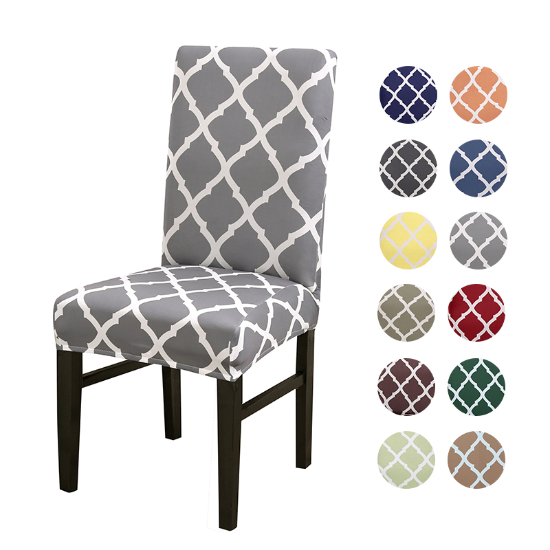 Us 3 99 50 Off Geometric Style Stretch Spandex Removable Dining Room Chair Covers Home Weddings Hotel Party Seat Elastic In Cover