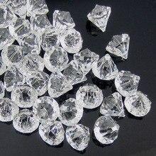 50 шт прозрачные акриловые алмазные драгоценные камни граненые бусины Настольная Ваза Наполнитель пират Акриловые Алмазные кристаллы в украшения для вечеринки сделанные своими руками 12,0 мм