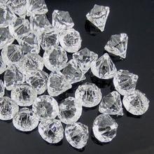 50 gemas de diamante acrílico transparente, abalorios facetados, jarrón de mesa, relleno de diamantes de acrílico pirata, decoraciones para fiesta DIY de 12,0mm