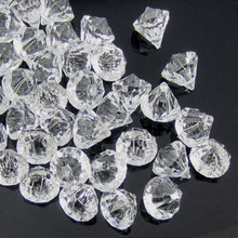 50 шт. прозрачные акриловые алмазные драгоценные камни граненые бусины наполнитель для настольных ВАЗ пиратский акриловый Алмазный кристалл в искусстве 12,0 мм