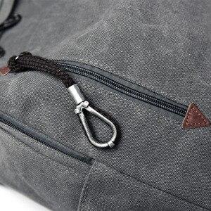 Image 3 - Big Canvas Backpack Man High Quality Large Leisure Multifunction Back Pack Men Bagpack Laptop 2019 New School Bag Backbag Male