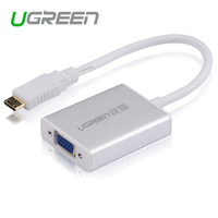 Ugreen מיני HDMI ל-vga מתאם ממיר עם AV אודיו מיקרו כבל USB למצלמה DV HDTV Tablet
