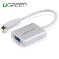 Ugreen Mini HDMI to VGA Adapter Converter with AV Audio Micro USB Cable for Camera DV Tablet HDTV