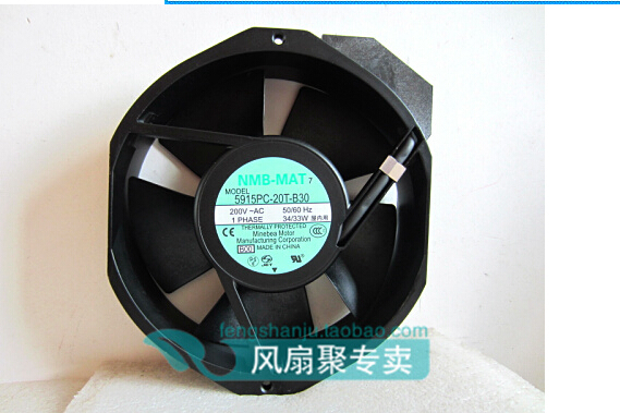 Hundred percent of the original NMB-MAT 17CM17238 200V 5915PC-20T-B30 150MM*172MM*38MM converter cooling fan nmb mat 5915pc 12t b30 a00 dc 115v 35a 2 piece 150x172x38mm server round fan